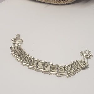 Unique 10 Commandments Silver Charm Bracelet